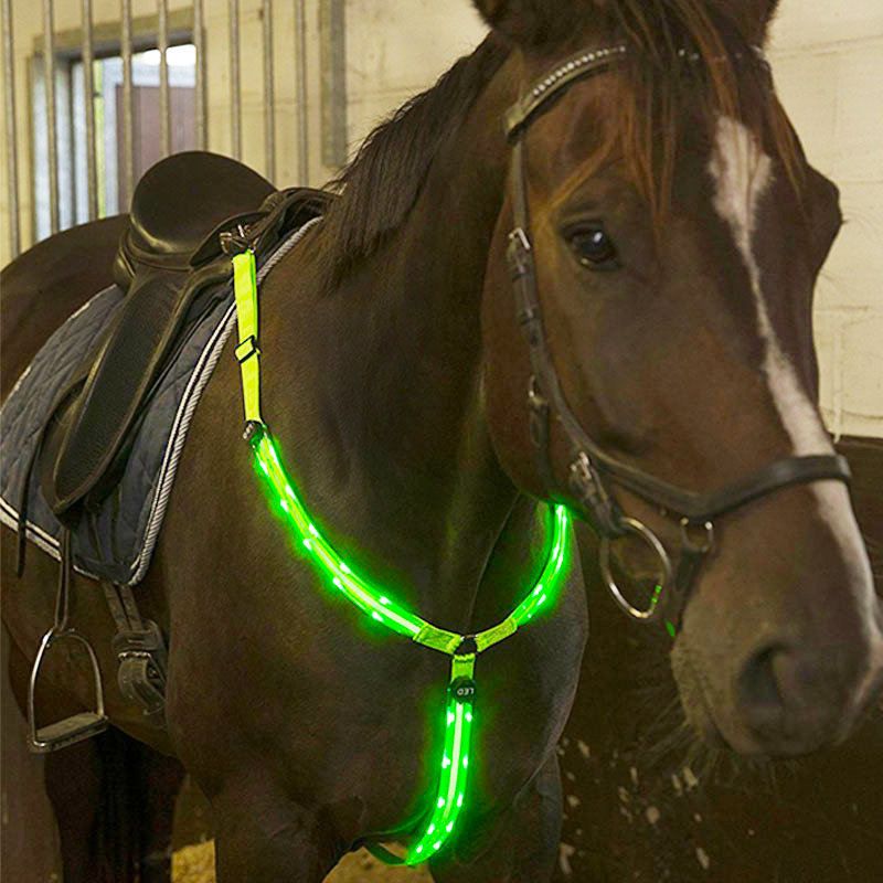 MOYLOR  Horse Breastplate Dual LED Horse Harness Nylon Night Visible Horse Riding Equipment Racing Equitation Cheval Belt C ...