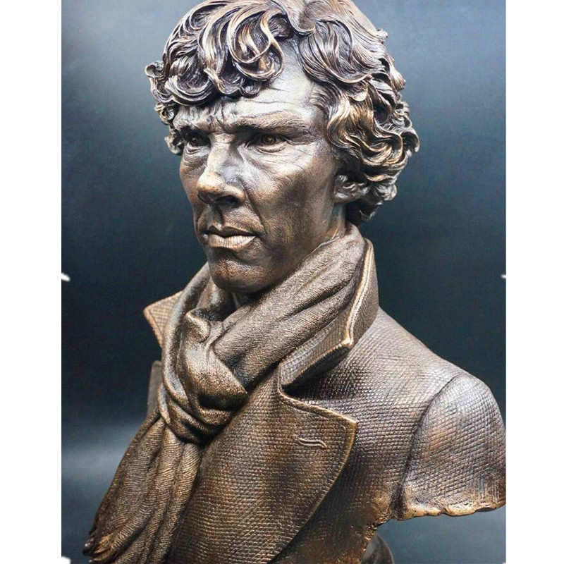 Sherlock Holmes Holmes Around Sherlock Holmes Hands On A Bronze Bust Like A Spot Statue Superhero Imitation Copper ModeT93 футболка для беременных printio шерлок холмс sherlock holmes