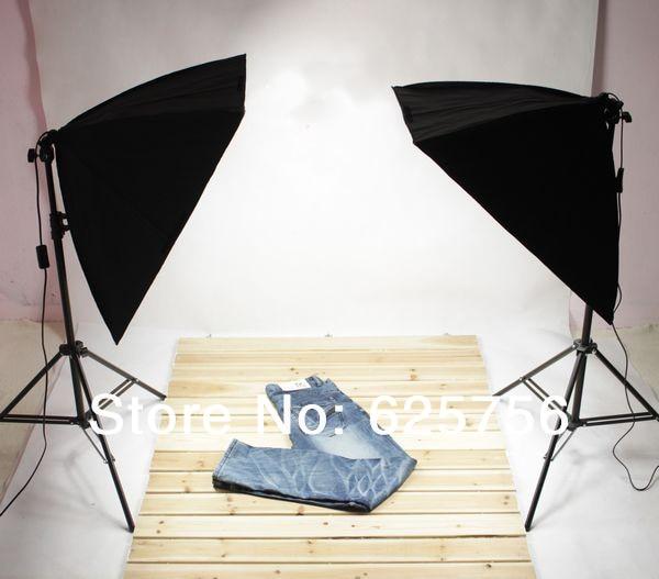 Photography Accessories Softbox Lighting Kit 2pcs 50x70cm Softboxes + 2pcs Light Stands Photo Studio Equipment Set Free Shipping 2250w photo studio continuous lighting 10x45w bulbs 50 70cm softboxes stands kit free shipping via dhl or ems