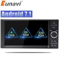 Eunavi Quad core 7'' 2 din android 7.1 Car Radio GPS Navi for Toyota Hilux VIOS Old Camry Prado RAV4 Prado 2003 2008 autoradio