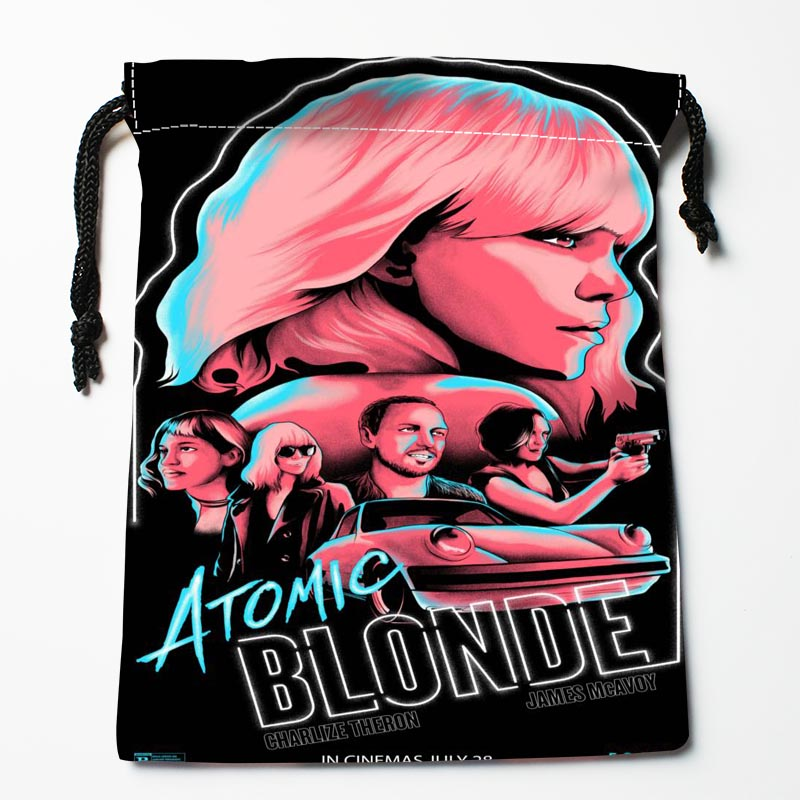 Custom Atomic Blonde Drawstring Bags Custom Storage Bags Storage Printed Gift Bags More Size 27x35cm Compression Type Bags