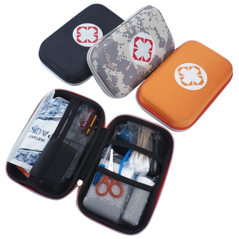 Black/Orange Portable Safety Tools First Aid Kit Empty Bag Home Medical Emergency Travel Rescue Case Medical Pouch j2