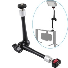 11inch CNC Aluminum Alloy Magic Arm with Ball Head Adaptor Mount for Stabilizer Tripod Brackets Monopods for Gopro SJcam Cameras цена