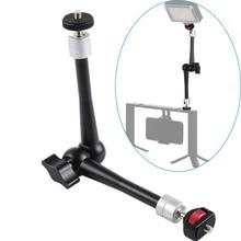 11inch CNC Aluminum Alloy Magic Arm with Ball Head Adaptor Mount for Stabilizer Tripod Brackets Monopods Gopro SJcam Cameras