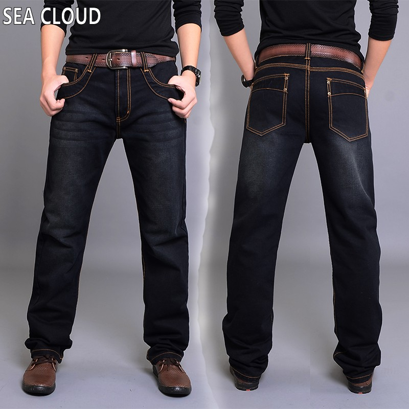 ФОТО Sea Cloud Free shipping Spring & winter men's clothing plus size pants straight Full Length casual jeans men loose long trouser