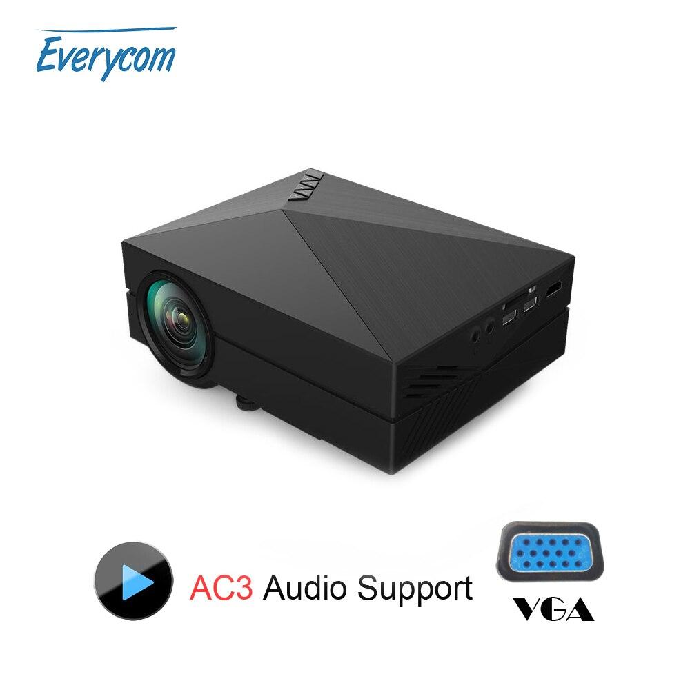 Media player gm60 mini lcd projector 1000 lumens ac3 for Cheap mini portable projector