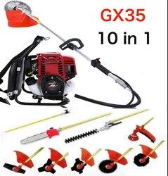 Mochila Gx35 10 en 1 Multi cortador de brochas de jardín whipper cortador de sierra de cadena recortadora de setos poste extensible