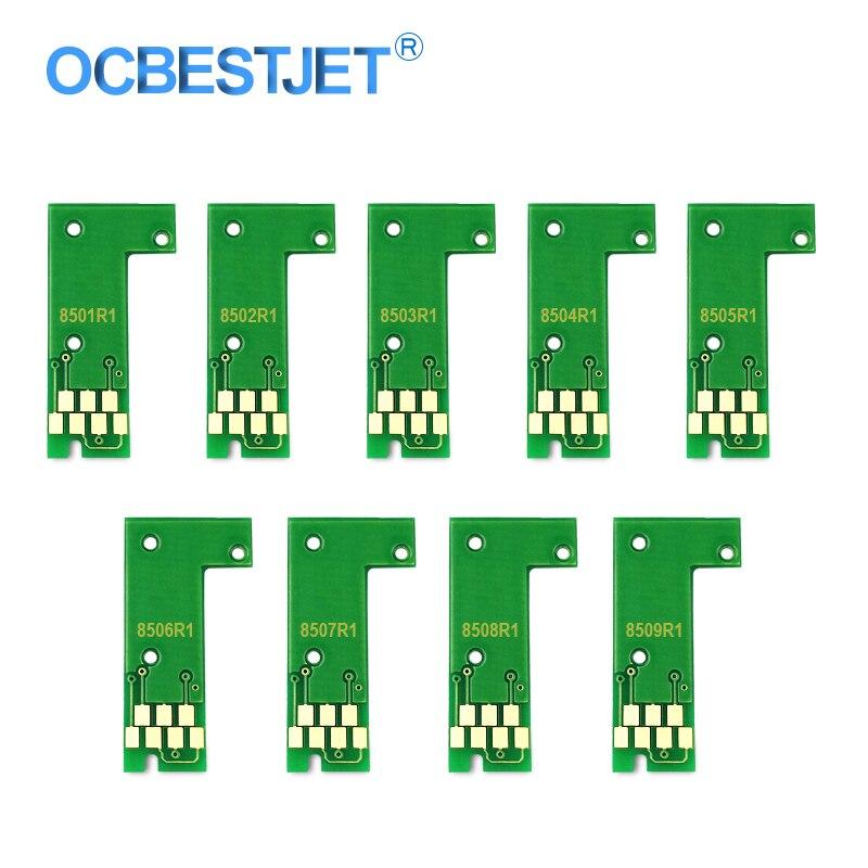 US $4 38 |9Colors T8501 T8509 T8501 Cartridge Chip Permanent Chip ARC Chip  For Epson SureColor P800 SC P800 Printer Ink Tank Chip-in Cartridge Chip
