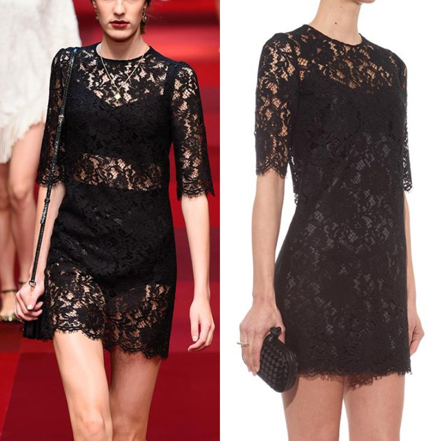 Accessories for lace black dress