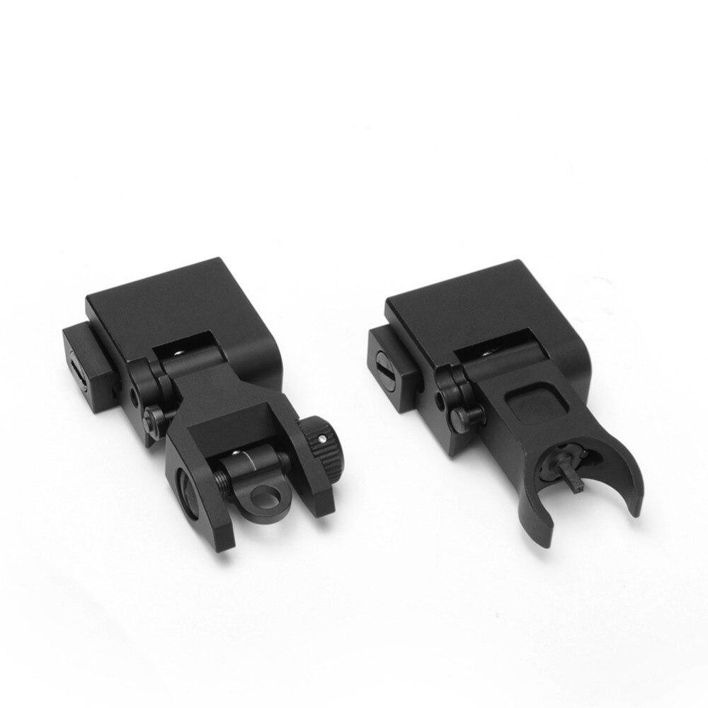 Flip up Front Rear Iron Sight Set Dual Halve maan Vorm BUIS - Jacht - Foto 5
