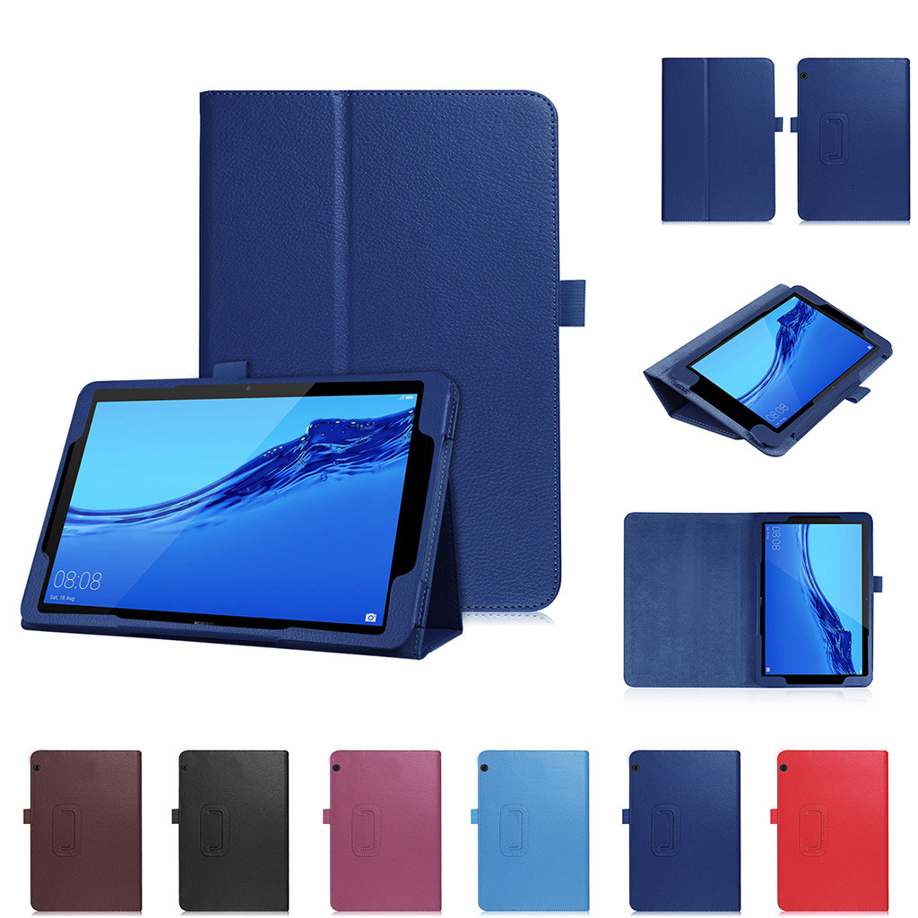 For Huawei T5 10 Case Cover PU Leather Slim Shockproof Protective Stand Cover For Huawei MediaPad T5 10.1'' Smart Tablet Shell