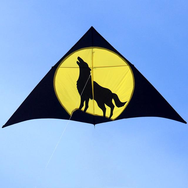 Baite Lobo Pipa Pipas de Nylon Ao Ar Livre para As Crianças Vlieger Parachute Stunt Kitesurf Pipa Voando Brinquedos Para Crianças