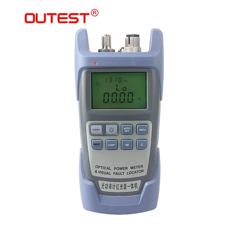 OUTEST 2 in 1 Fiber Optic Power meter + Visual Fault locator 10 mw mit 10 km Laser quelle für optische lichtquelle