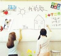 Removable Whiteboard With Pen White Board Paper Wall Sticker Chalkboard Sticker Blackboard For Kids Rooms Wallpaper