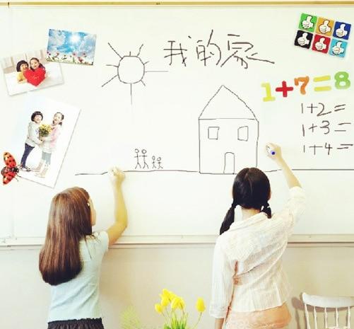 Tavolina e Largueshme me Stilolaps të Bardhë Letër Letër Sticker Wallboard Sticker Blackboard Për Fëmijët Dhoma Wallpaper Fëmijët Art