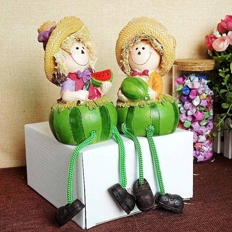 Modern home art decoration green watermelon model house for Modern house gifts
