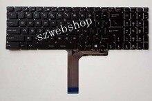 Nouveau pour MSI CX62 GP60 GL62 GL72 GP62 GP72 ordinateur portable Anglais US clavier rétro-éclairé no et no frame noir