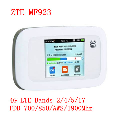 150Mbps ZTE MF923 Pocket 4G Modem WiFi Router Mobile Sim Card Support South America And North America 4g Mifi Router With Sim
