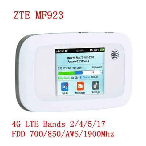 150Mbps ZTE MF923 poche 4G Modem WiFi routeur Mobile carte Sim prise en charge amérique du sud et amérique du nord 4g mifi routeur avec sim