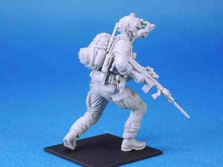 75mm Scale Modern US Army Seals Special Forces Unpainted Resin Model Kit Figure Free Shipping
