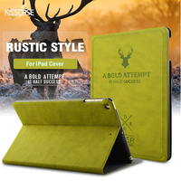 FLOVEME Retro Deer Head Skin Case For I Pad Mini 1 2 3 4 Smart Sleep