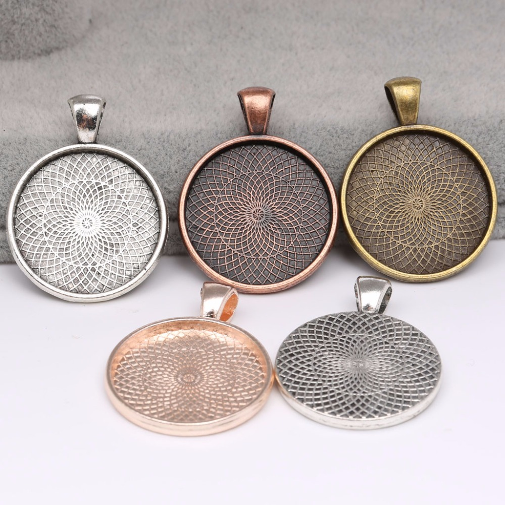 10pcs Antique Silver//Bronze Square Cabochon BaseCharm Pendants 15x15mm Connector