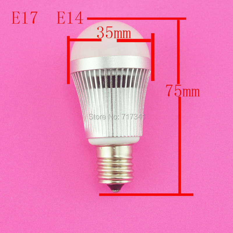 10pcs E14 <font><b>E17</b></font> <font><b>Led</b></font> Light <font><b>Bulb</b></font> Lamps 3w Smd 5730 Ac 85v - 265v 270lm Warm Cool White Ce&rohs Free Shipping image
