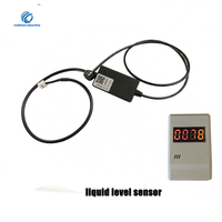 Non contact Ultrasonic Liquid Level sensor with display 10 36V UART RS485 Output Range Sensor for Fire systerm etc