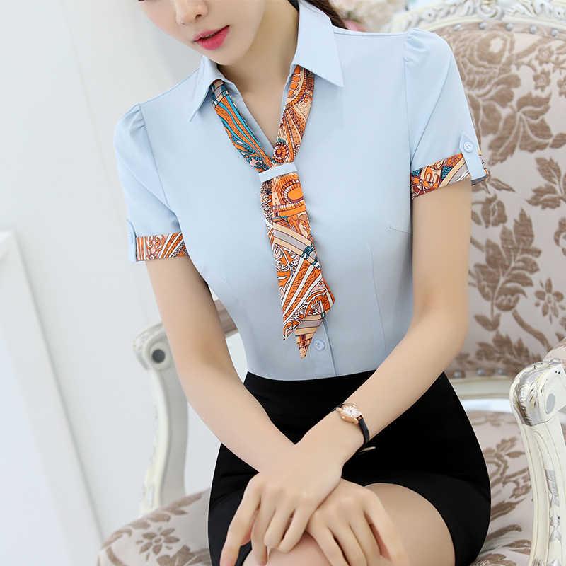 d262412e571 ... Летние шифоновые Блузки для малышек Для женщин Мода элегантный v-образным  вырезом Рубашки для мальчиков ...