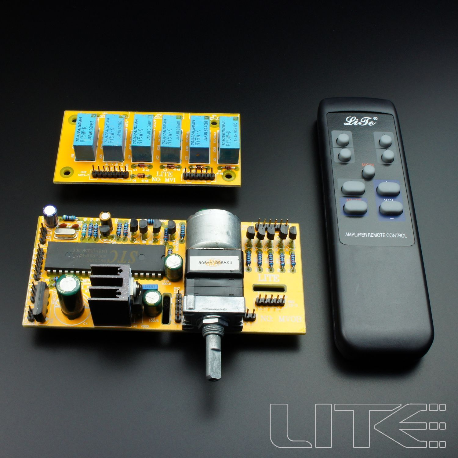 MV06 6 Way Input Motorized Remote Volume Control Kit ALPS free shipping 6 way m62446 5 1 channel volume remote control preamplifier kit for dc motor use