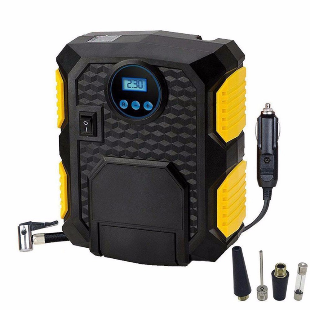 1Pc Tyre Inflator Pump Hot Air Compressor Car Tire Tyre Inflator Pumps Electric LCD 150PSI Gauge Mayitr Car Wash & Maintenance