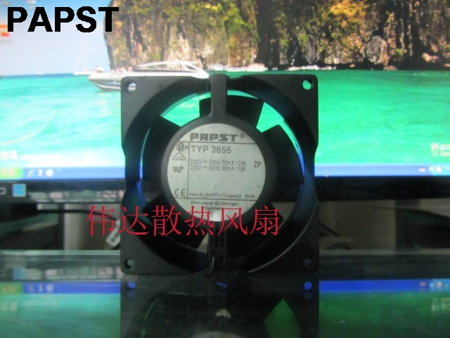 PAPST New original German fan 3656 9238 230V 12W temperature fan original ebmpapst 1120ntd tc 220 230v 16w 19w cooling fan