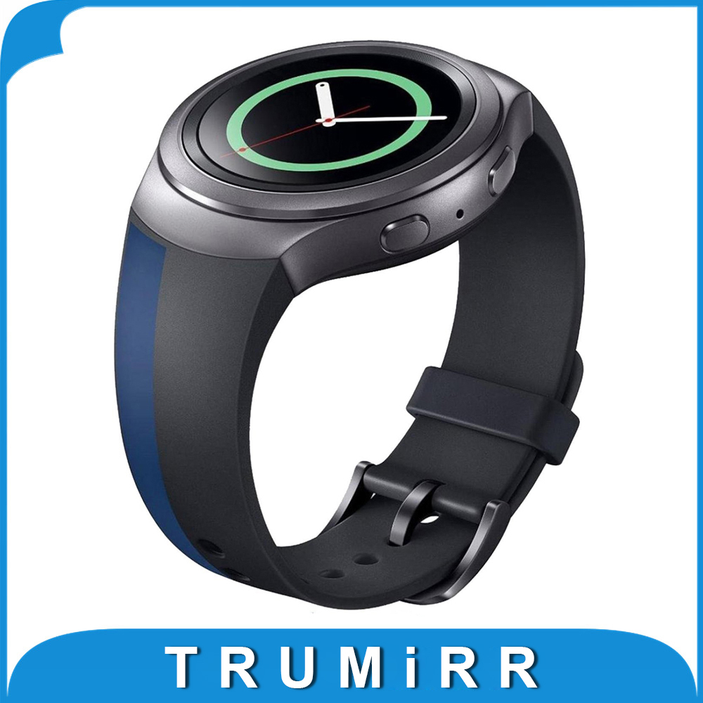2016 NEW Silicone Rubber Watchband for Samsung Gear S2 (SM-R720) Smartwatch Band Replacement Strap Bracelet Multi Color Pattern nylon sports watch band strap adapters for samsung galaxy gear s2 r720 watch band tools for samsung galaxy gear s2 r720