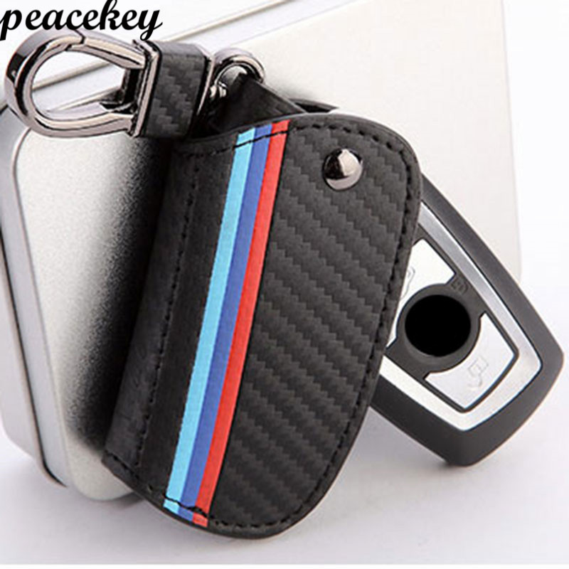 Peacekey Carbon Fiber Car Remote Key Holder Cover Case For BMW F30 E90 F10 M3 M1 2 Series 3 Series 5 Series 7 X1 X3 X4 X5 X6 rin
