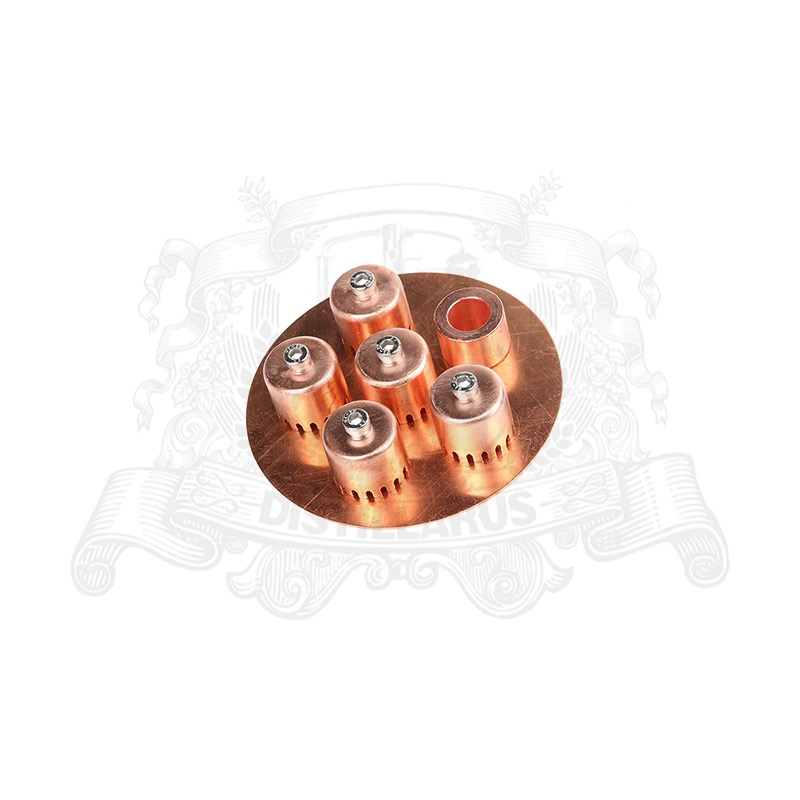 Copper bubble plate set for 4 column. Premium quality OD104mm home distiller 4 stainless column with copper bubble plates
