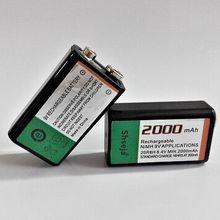 Новинка 2шт 9В 2000 мАч Ni-MH перезаряжаемый 9 вольт NiMH аккумулятор
