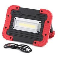 10 W COB LED Travail Lumière Projecteur lampe de poche de Camping Projecteur Projecteur Intégré Rechargeable Li-Batteries Avec USB pour charger
