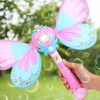 Наружная электрическая волшебная палочка игрушки Bubble для детей Автоматическая мыльная машина с пузырями с огнями музыка лето вода воздухо...