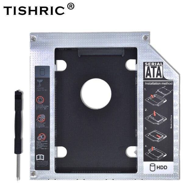 """TISHRIC 2nd HDD Caddy 9.5 mét SATA 3.0 Để SATA 2.5 """"SSD OptiBay HDD Trường Hợp Phổ Nhôm Kim Loại Cho máy tính xách tay LẺ CD-ROM DVD-ROM"""