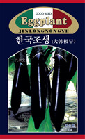 1 Original Packing 5G per pack Korea Big black eggplant seeds long green health seeds big balcony Seasons vegetables seeds