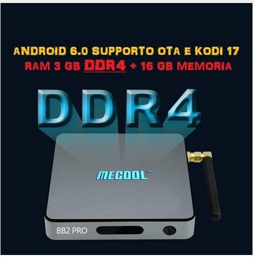 MECOOL BB2 Pro Android TV Box Amlogic S912 64 bit Octa core ARM Cortex-A53 3GB 16GB 4K WiFi BT4.0 2.4G/5.8G Wifi Set-top Boxes mecool bb2 pro amlogic s912 3gb ddr4 16gb emmc tv box rii i8 black