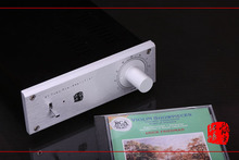 Tube Preamplifier HIFI GE 5670 Matisse Circuit Whole Aluminum Metal Chassis Scale Volume Knob Audio 110V/220V