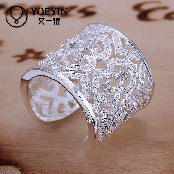 Silver Plated Rings Women Party Wedding Bands for Women Fashion Jewelry Hot Sale