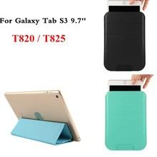 "Delgada de la pu leather case cubierta del soporte de la manga protectora ultra-thin para samsung galaxy tab s3 9.7 ""t820 t825 tablet pc bolsa bolsas"