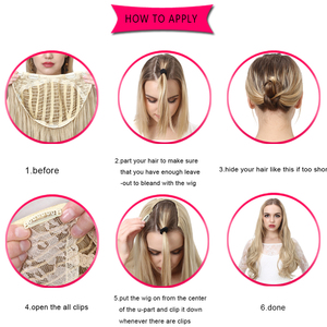 Image 5 - SARLA 200pcs/lot Hair Extension Long Synthetic Curly Clip in Hair Extensions U part Natural Hairpieces UH17