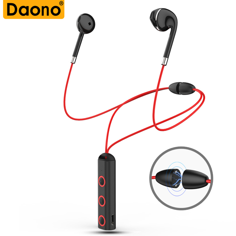 Daono BT313 Bluetooth Headphone Wireless Headset Magnetic Neckband Sport Bluetooth Earphone with Mic for phone iphone xiaomi mini style wireless bluetooth earphone v4 1 sport headphone phone bluetooth headset with micro phone for iphone android bt023