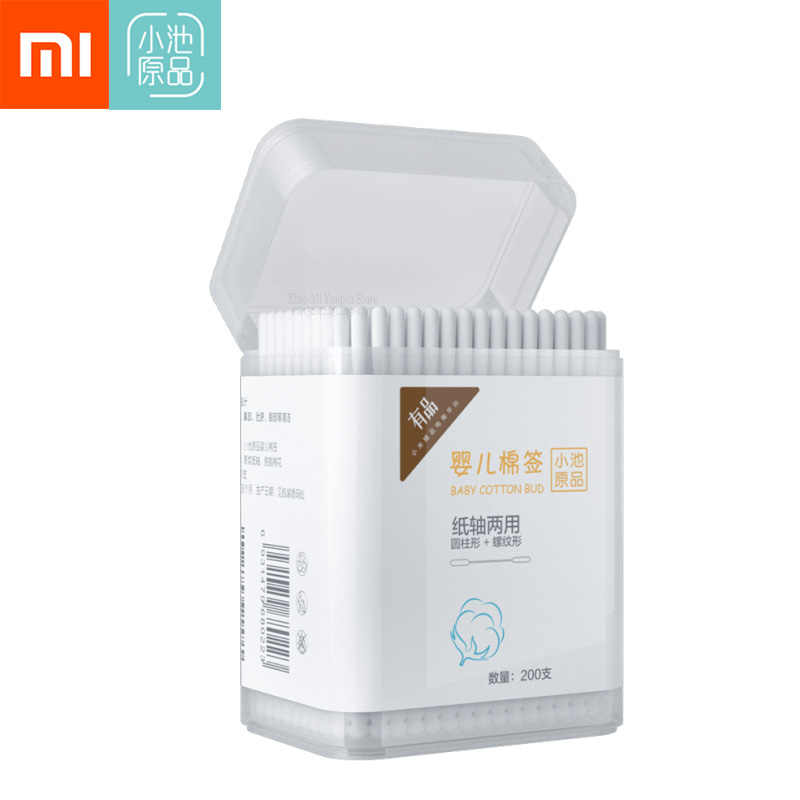 Xiaomi Mijia Cotton Swab Paper Stick Two Head Licking Ear Disinfection Pointed Cottonswab Special Wood Sticks for Home