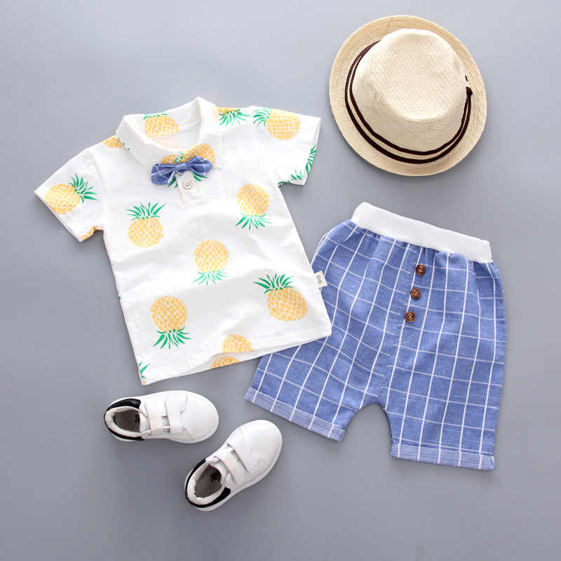 No Shoes & Hat Retail Children's Clothing T-shirt & Shorts Boy's Set Summer Baby Boy 2 Pieces Sets