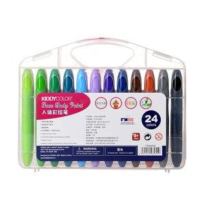 Image 2 - CONDA المهنية الوجه قلم طلاء 24 ألوان غير سامة الجسم أقلام شمع هالوين زي حفلة تنكرية الجمال ماكياج أدوات
