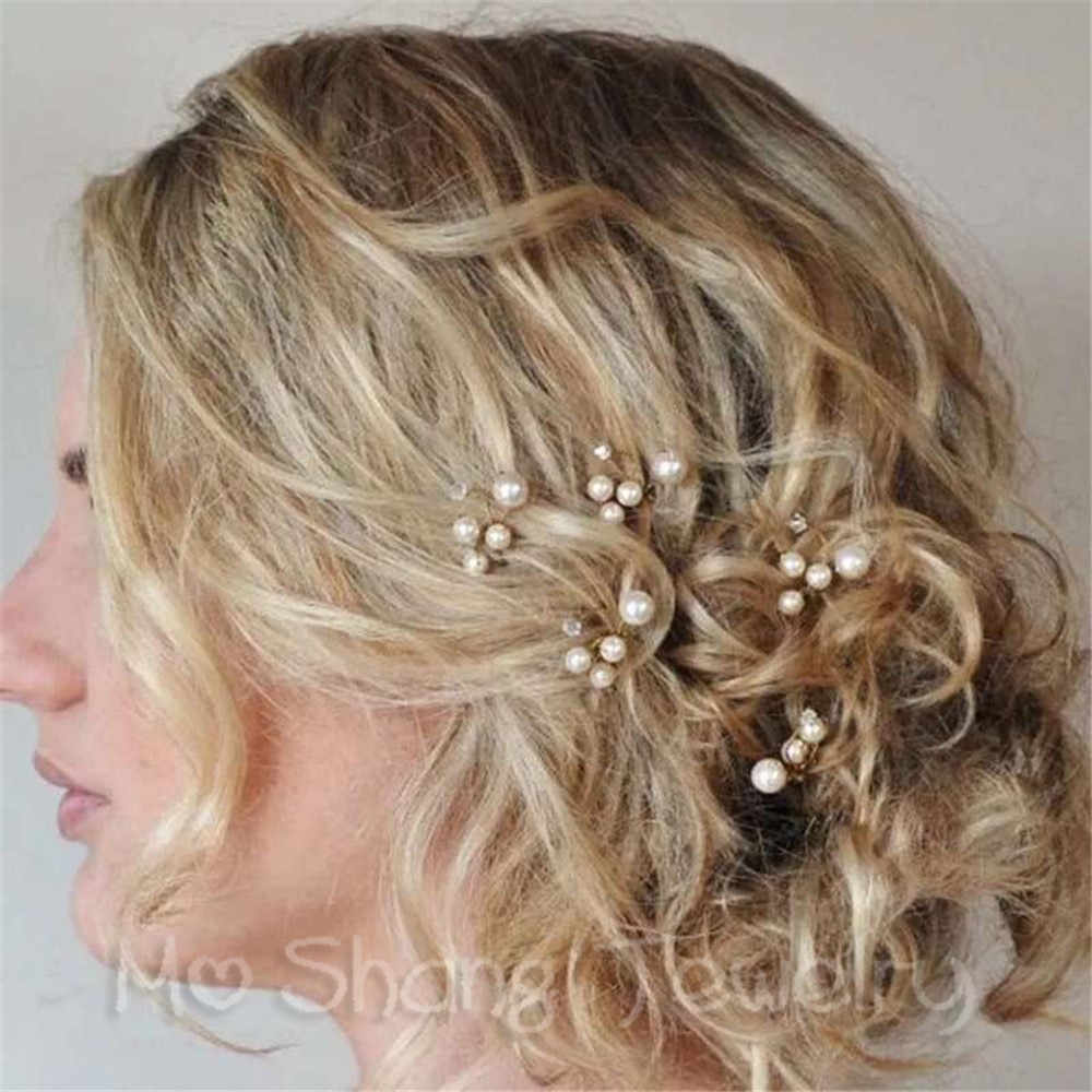 Fashion Bride Wedding Hair Clips for Women Crystal Decorations Simulate Pearl Hairpins for Women Hair Accessories